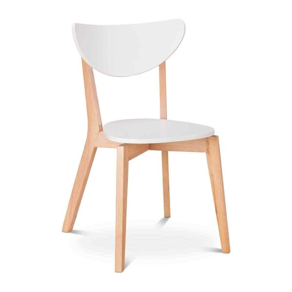 Wooden white chair 1